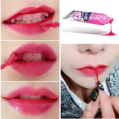 Demarkt 6Pcs Womens Magic Color Mask Tint Easy Peel Off Long Lasting Makeup Tatto Lip Gloss Lipstick Waterproof Tear Pull Lipstick