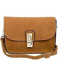 Mei&ge PU Leather Stylish Sling Bag/Purse For Women & Girls Color - Khaki (1628)