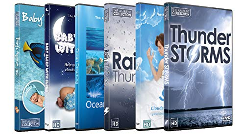 Fall-combo-pack (6 Disc Set Sleep Time DVD Combo Pack - Fall Asleep Fast on these Nature HD Videos with Clouds, Fish, Rain,Thunder Sounds for Relaxation)