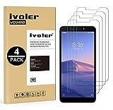 iVoler [4 Stücke] Panzerglas Schutzfolie für Xiaomi Redmi 6 / Xiaomi Redmi 6A, 9H Härte, Anti- Kratzer, Bläschenfrei, [2.5D R&e Kante]