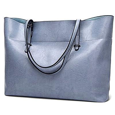 Sac fourre-tout en cuir pour femmes, grand sac à main de transport d'épaule de femme Zipper sac de travail de femme