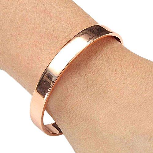 Abeillo Rosengold rein Kupfer-Magnettherapie-Armband Für Arthritis Karpaltunnel Migräne und Müdigkeit (Pain Relief Migräne)