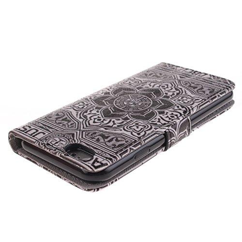 Ooboom® iPhone 5SE Coque PU Cuir Housse Étui Flip Cover Case Portefeuille Wallet Supporter avec Carte de Crédit Fentes Fermoir Magnétique pour Apple iPhone 5SE - Pissenlit Amour Motif Fleur