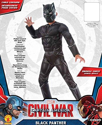 Imagen de rubie 's oficial del niño disfraz de pantera negra de marvel deluxe–guerra civil–pequeño alternativa