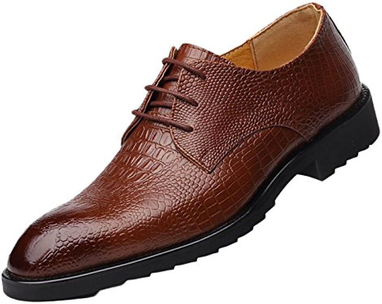 Koyi Zapatos De Cuero para Hombres Nuevo Vestido De Negocios Acentuado Cinturón Británico Zapatos De Pescado Coreano... -
