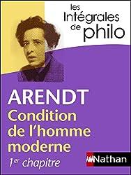 Intégrales de Philo - ARENDT, Condition de l'homme moderne