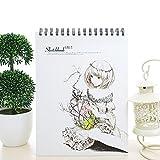 Zhi Jin A4papier épais spirale artistes Dessin croquis ordinateur portable Journal Notepad Doodles de voyage Princess Girl