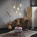 QAZQA Modern Moderne Hängelampe Gold/Messing dimmbar - Cava 5-flammig/Innenbeleuchtung/Schlafzimmer/Küche Stahl Rund/Länglich LED geeignet E27 Max. 5 x 60 Watt