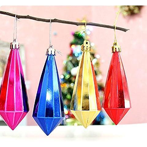 6 blu placcato oro diamante ciondolo Natale Natale Decorazioni albero di Natale di regali di colore a forma di palla forniture , colorful