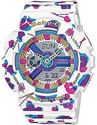 Casio Damas Baby-G Cuarzo: Batería JAPAN Reloj (Modelo de Asia) BA-110FL-7A