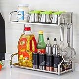 TRRE@ Küche Gewürze Racks Lagerregale Edelstahl Tisch Kipper Küchenzubehör Racks Küchenregale