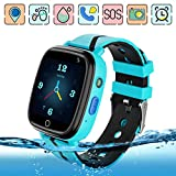 Kids GPS Smart Watch Phone Step Pedometer Tracker Anti-lost Touch Screen Chat Voice Flashlight