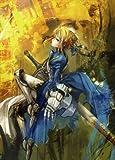 Fototapete Nippon Collection, Blaue Ritterin mit riesigem Schwert, scheint auf einem Pferd zu sitzen, 4 Bahnen hochwertige Vliestapete, 186 x 260 cm