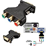 ELEGIANT 3 RCA RGB Video Female auf HD 15-Pin Male VGA S-VHS AV Adapter Konverter Monitor