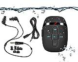 【2018 HiFi Sound wasserdicht MP3-Musik-Player zum Schwimmen und Laufen, Unterwasser-Kopfhörer mit kurzem Kabel (3 Arten Ohrhörer), Shuffle-Funktion