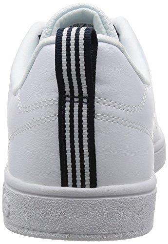 adidas Herren Advantage Clean Vs Turnschuhe, Grau, EU Elfenbein (Ftwr White/ftwr White/collegiate Navy Ftwr White/ftwr White/collegiate Navy)