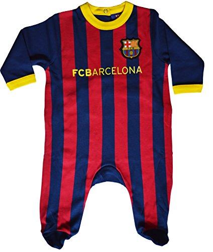 Colección Oficial del FC Barcelona. Grenouillère bebé niño del Barça. Tamaño Bebé Niño. Material: Algodón. Producto oficial FC Barcelona, marca protegida.
