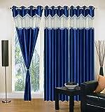 "Home Elite Eyelet Fancy Polyester 3 Piece Curtain set-84""x48"""