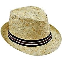 EveryHead Fiebig Sombrero De Paja Los Hombres Fedora Verano Playa Equinácea  Gorro Rafia Vacaciones con Banda a271e49389e