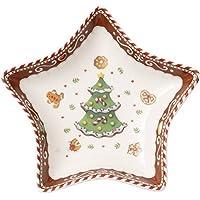 Villeroy & Boch 14-8612-3275 Bol de Estrella pequeño Winter Bakery Delight, Motivo árbol de Navidad, 13 cm, en Festivo Embalaje de Regalo, Porcelana,, 13x0.1x0.1 cm