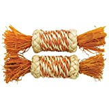 Rosewood Boredom Breaker Small Animal Activity Toy Corn Rattle Rollers, Pack of 2
