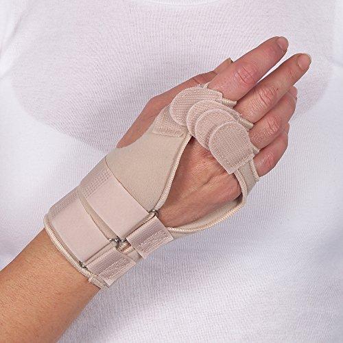 Prim Hand- und Finger-Bandage, bei rheumatoider Arthritis, verbessert die Fingerausrichtung und Funktion von Hand und Handgelenk, wärmt und lindert Schmerzen und Entzündungen, empfohlen bei rheumatoider Arthritis, Arthritis und nach operativen Eingriffen, in 3 Größen erhältlich - Rheumatoide Arthritis-entzündungen
