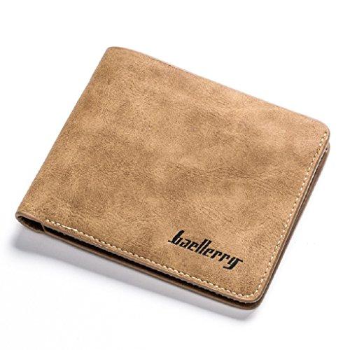 Italienische Reise-geldbörse (Baellerry Leder Herren Geldbörse Geldbeutel Portmonee Portemonnaie Brieftasche im Alcantara Design - auch ideal als Geschenk -)
