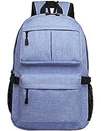 ZKOO Impermeable Mochilas Lona Mochila Escolar Bolsa de Viaje Mujeres Hombres Mochilas de Portátil Daypacks al Aire Libre Ocio