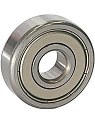 EZO - Roulement à billes à gorge profonde rangée simple en acier inoxydable 6301 ZZ (12x37x12)