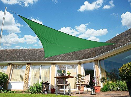 Voile d'Ombrage Vert Triangle 5m - Déperlant - 140g/m2 - Kookaburra