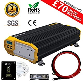 KRIËGER 1500 Watt 12V United Kingdom Car Power Inverter, Dual 230V AC Outlets, Car Inverter Back Up Power Supply For Refrigerators, Microwaves,Chainsaws,Vacuums, Blender, Power Tools. SGS CE Approved