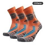 Festnight Unisex Ski Socks Anti Slip Sports Performance Thermal Cotton Trekking Socks Men Women Sports Soccer Running Hiking Traveling Socks 1 Pairs / 3 Pairs