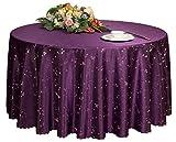 Hotels Hochzeiten Bankette Tischplatten Zubehör Runde Tischdecken Tischdecke Lila (200 * 200 cm)