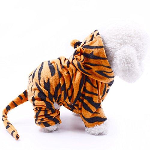 Pet Cute Kostüm Hunde - SweetPetGarden Pet Kostüm Hoodie Mantel für Hunde und Katzen, Haustier Warm Bekleidung, Cute Hoodies Dog Outfits, Pet Winter Kleidung, S, Tiger