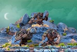 Kings Of War - 3 Trolls (Goblin/Orc Army) - Unpainted - MGKWO19-1 - Mantic Games