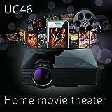Original UNIC UC46 Portable Projector Cinema Theater-1200 Lumens-PC & Laptop VGA/USB/SD/AV/HDMI Input Wifi Wireless Mini Pocket Projector