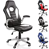 TRESKO Office Swivel Chair 74 cm High Back Large Seat Tilt Function Executive
