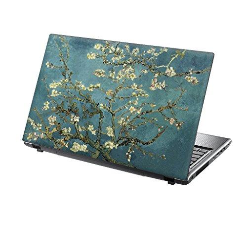 er Skin Vinyl Aufkleber mit bunten Mustern für 15 Zoll 15,6 Zoll (38cm x 25,5cm) Laptop Skin blau / grün Blüte Baum ()