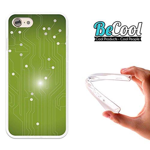 BeCool®- Coque Etui Housse en GEL Flex Silicone TPU Iphone 8, Carcasse TPU fabriquée avec la meilleure Silicone, protège et s'adapte a la perfection a ton Smartphone et avec notre design exclusif. She L1494