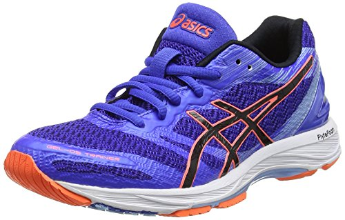 ASICS Damen Gel-DS Trainer 22 Laufschuhe Blau (Blue Purple/Black/Flash Coral), 39 EU