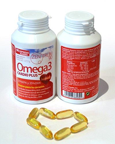 Omega 3, Capsules d'Omega 3, Huile de poisson bleu, 60 capsules, bon pour le cœur / 35% EPA / 25% DHA