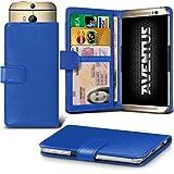 Aventus (Blau) HTC Desire 620G Dual Sim Premium-PU-Leder