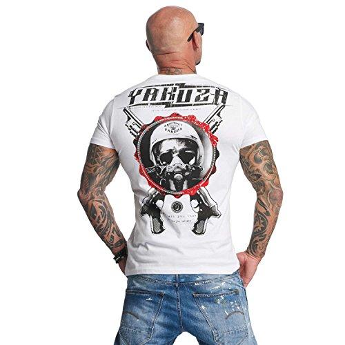Yakuza Uomo Maglieria/T-Shirt Helmet Skull Bianco