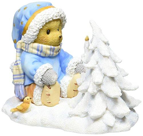 Enesco Cherished Teddies Collection Bear/Tree/Candle Figurine, 3.125-Inch -