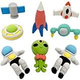 Innovative New Imported Outer Space Multi Color Erasers For Kids (Pack Of 8 PCS)