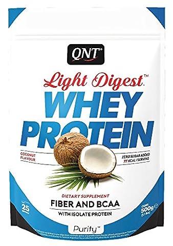 QNT Light Digest Whey Protein Supplement, 500 g, Coconut