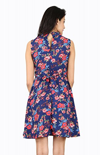 ABODOS-FASHION-Multicolor-Floral-Printed-Crepe-Dress