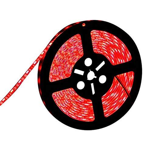 Fünf Licht Wandleuchte Strip (PEJGD LED Strip LED Streifen Licht Wasserdicht 5 mt 300 LEDs 5630 SMD Rot Grün Blau Flexible Bar Licht DC12V Indoor Home Decoration Licht Für Flur Ausstellung LED Leiste (Farbe : Red))