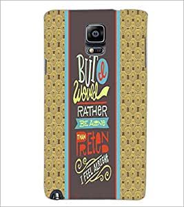 PrintDhaba Quote D-4249 Back Case Cover for SAMSUNG GALAXY NOTE 3 (Multi-Coloured)