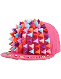 LOCOMO Men Women Rainbow Hedgehog Plastic Triangular Spike Baseball Cap FFH052
